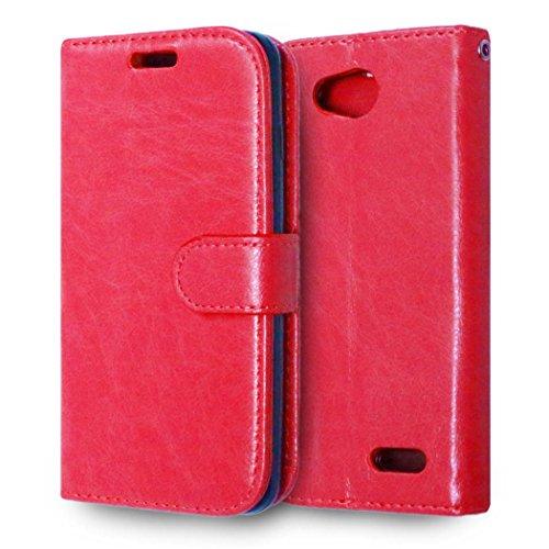 casefirst LG L90 Wallet Case, LG L90 Leather Case, Premium PU Leather Anti-Scratch Folio Stand Bumper Back Cover for LG L90 - Red (Lg L90 Case Folio)