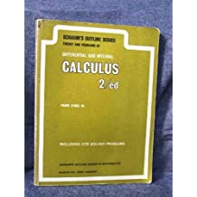 theory and problems of differential and integral calculus by Frank Ayres, Jr. (1964) Paperback