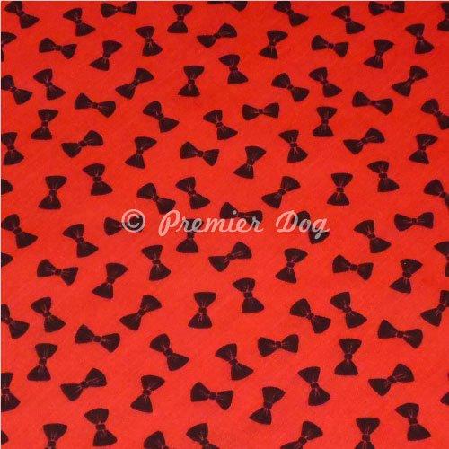 Premier Dog Hunde-Halstuch, Rot / Schwarz