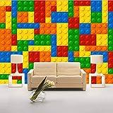 Svsnm Carta da Parati Murale 3D di Dimensioni Personalizzate per Soggiorno Lego Mattoni Camera da Letto per Bambini Negozio di Giocattoli Decorazione Murale