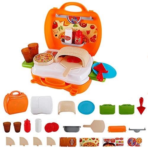 Game toy Kindersimulationsspielzeug, Pizza Simulation Spielzeug Set Koffer, Pizza-Werkzeuge Spielzeug enthält Pizzapfanne, - Home Pizzaofen