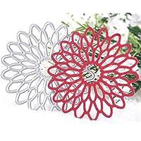 Calistouk Stanzschablonen aus Metall mit verschiedenen Mustern, für Fotoalben und zur Dekoration sonnenblume