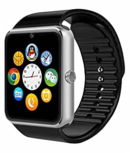 FLETUM Sim Card and Memory cards Supported Smart Watch Android and IOS series Smartwatch(Black Strap)