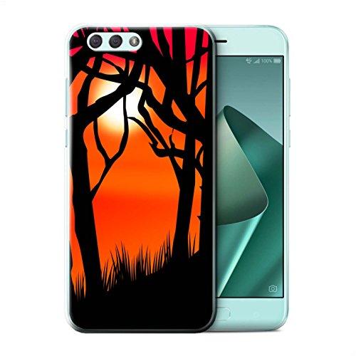 für Asus Zenfone 4 ZE554KL / Gruseligen Wald Muster/Halloween Szene Kollektion ()