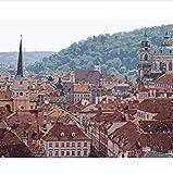 Techo República Checa Panorama Edificio Praga Pintura Por Números Paisaje Pintura Por Números Kit 50X60CM Muy Bonito Regalo