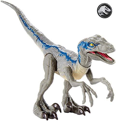 Jurassic World Dino-crías Velociraptor Blue, huevo de...