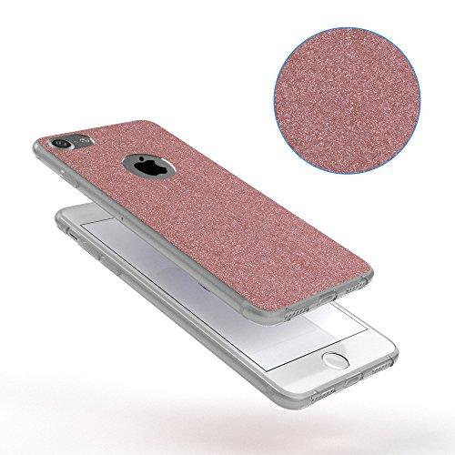 "iPhone 8+ Hülle / iPhone 7+ Hülle - EAZY CASE Slimcover ""Henna"" Handyhülle für Apple iPhone 7 Plus & iPhone 8 Plus - Flexible Schutzhülle mit Indian Sun Design in Weiß / Rosa Transparent Rosé"