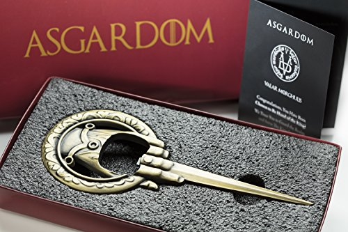 Hand of the King Bottle Opener Merchandise Gift – Cool Fan Game Item In Red  Lannister ...