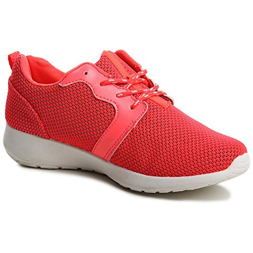 Topschuhe24 530 baskets femme chaussures de sport Rouge - Rouge