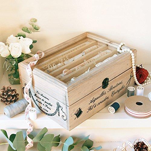 Französisches Design, aus Holz, klassisches Design (Vintage Box Sewing)