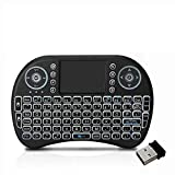 Loopan i8 Mini Wireless Keyboard and Mouse(Touchpad with Backlight) with Smart Function