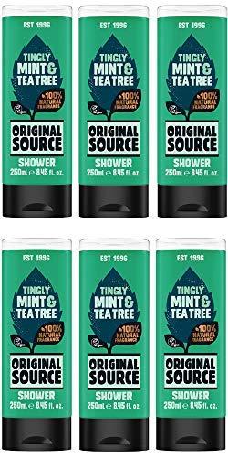 Original Source Shower Gel Mint and Tea Tree 250ml Pack of 6