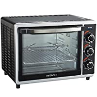 Hitachi 30 Liter Electric Oven With Convection Function, Black - HOTG-30, 1 Year Warranty