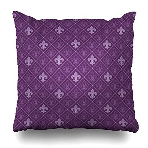 Klotr Fundas Almohadas Pattern Purple Wall Fleur De