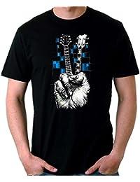 35mm - Camiseta Hombre Guitarra Simbolo De La Paz e0cf9e4d3147b