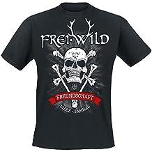 """Frei.Wild - """"15 Jahre / Bone-Skull"""" T-Shirt, Farbe: Schwarz"""