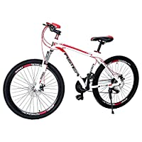 Aster L600 Mountain Bike - White Red (26 Inch)