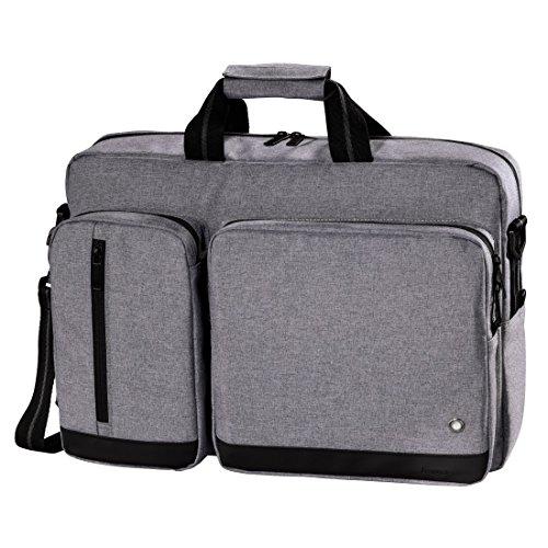 Hama Notebook-Tasche Halifax Life (Tasche für Laptop / Notebook, Notebooktasche geeignet für Computer bis 15,6 Zoll / 40 cm Bildschirmdiagonale, Laptoptasche) grau - Life-laptop-tasche