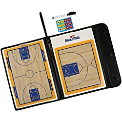 LeaningTech tácticas tácticas Tarjeta del baloncesto Coach Consejo carpeta de la carpeta para el baloncesto con el imán y el caucho de la pluma