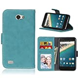 BONROY Case,LG Bello 2 Flip Leather Case, Shockproof Bumper