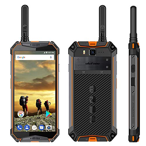 Ulefone Armor 3T Teléfono Robusto IP68 Impermeable Teléfono Móvil 10300mAh Android 8.1 Walkie Talkie NFC Helio P23 Octa Core de 5.7 Pulgadas FHD + 4GB + 64GB Desbloqueado Smartphone
