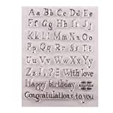 Xurgm Silikonstempel Set - Buchstaben und Zahlen Motive - Clear Stamps DIY Handwerk Scrapbooking Dekorieren