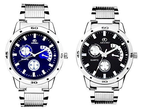ADAMO Designer Analogue Multicolor Dial Men Watch Combo - 108107-1