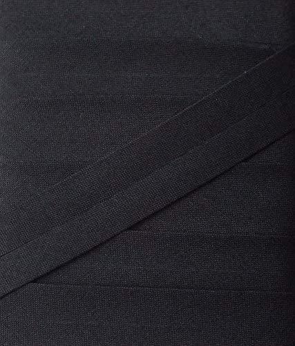 5 m Baumwollschrägband 20 mm (schwarz)