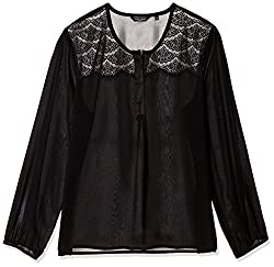 Park Avenue Woman Top (PWAF00697-K9_Black_86)