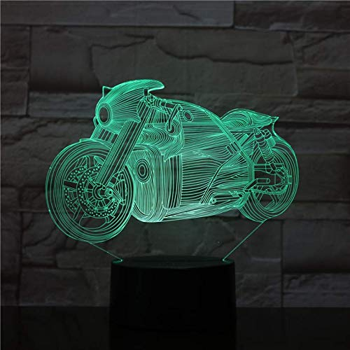 3D Nachtlicht Motorradbeleuchtung Led-Leuchten Dekoration Spielzeug Geschenke Für Kinder Freunde Coole Auto Sammlung Spielzeug Geschenke Präsentieren Led