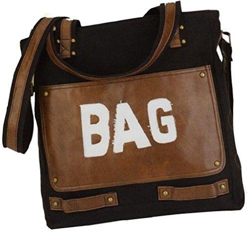 Alessandro LINO 3128 Handbag Junge Mode Damen Umhängetasche Schultertasche mit Handyfach in 2 Farben ca. 37/35/11 cm Sand