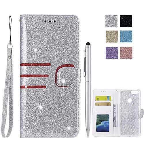 ChoosEU Compatibile con Cover Huawei P Smart 2018 in Pelle Flip Custodia Libro Pelle PU Silicone Morbide Colorate Case Antiurto...