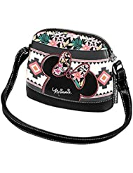 MINNIE - Sac à main zip TROPICAL FLOWERS Minnie Disney