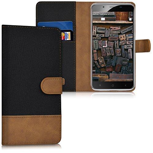 kwmobile Blackview P2 / P2 Lite Hülle - Kunstleder Wallet Case für Blackview P2 / P2 Lite mit Kartenfächern und Stand