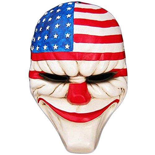 Mardi Gras Masken Halloween Party Latex Jaffaite Kunststoff Lustige Masken Scary Haunted Haus Best Gesichtsmaske Kopfbedeckung Dekorationen Moive Film Spiel Zahltag Dallas (Dallas Co Kostüme)
