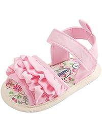 7a56fd850acb3 Malloom Tela de algodón Zapatos Bebe Verano Antideslizante Suela Blanda  Primeros Pasos Sandalias para Recién Nacido
