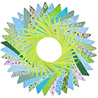 Bunte Party Wimpel Flagge Blau,Wimpel Girlande Süße Bunting,Wimpelkette kinderzimmer,Wimpelkette Farbenfroh Wimpeln für Drauße-10M