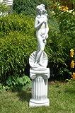 Unbekannt Dekofigur Skulptur Sockel Venus von Botticelli auf ionischer Säule H 91 cm Statuen aus Beton