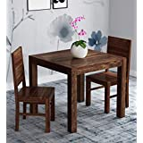 Unique Furniture Wood Dining Table 2 Seater Set Dining Room Furniture Solid Wooden 2 Seater Dining Table Home Dining Living Room |Solid Wood Dining Table Set Furniture (Brown Finish)