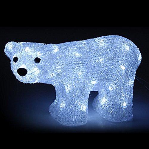 LED Eisbär aus Acryl für außen und innen