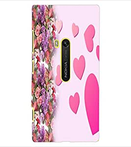 ColourCraft Love Hearts Design Back Case Cover for NOKIA LUMIA 920