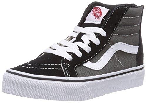 Vans SK8-HI ZIP Sneaker alta, unisex bambino, Multicolore (Black/Charcoal BA5), 34
