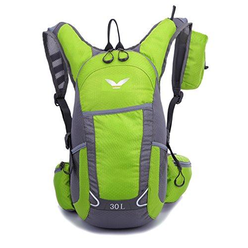 Young & Ming - Geringes Gewicht 30L Unisex Rucksäcke Im Freien Wandern Klettern Freizeit Trekkingrucksäcke Outdoor Taschen Radfahren Reiten Reisetaschen wasserdicht Backpack Grün1