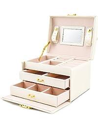 Caja Joyero con Espejo Caja para Joyas joyero Caja de Joyas Organizador de Joyas, Caja