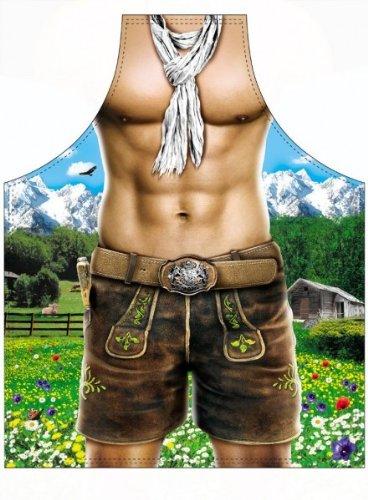 Schürze für Männer - Alpenboy mit Sixpack
