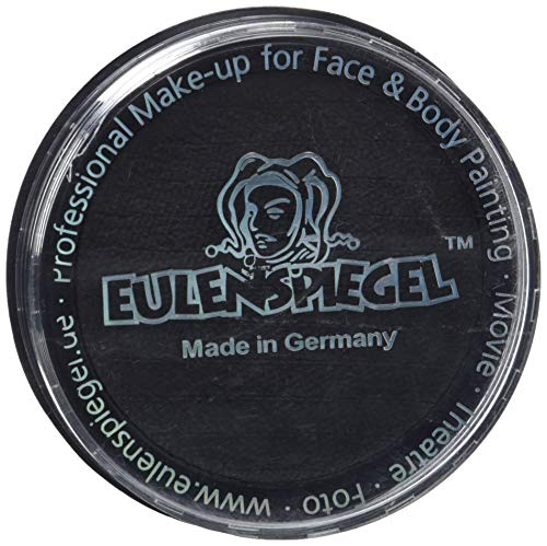 Eulenspiegel 181119 - Profi-Aqua Make-up Schminke - Schwarz - 30g (Schwarze Make-up Für Halloween)