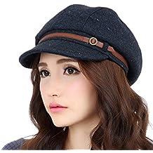 Versión coreana de la caída libre de moda del casquillo del invierno Mujer ajustable (de dos colores Opcional) ( Color : 1# , Tamaño : M(56-58cm) )