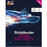 #8: BitDefender Total Security 2017 - 3 Users, 1 Year (Voucher)