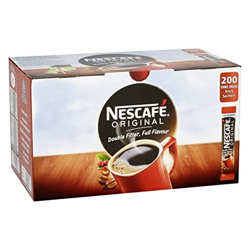 NESCAFÉ Original Instant Coffee Stick Packs, Box of 200