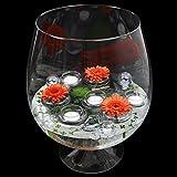 Glas Pokal Cognacglas / Bowleglas groß Höhe 38cm Ø 24cm. Dekoglas in XXL Form aus Klarglas von Glaskönig